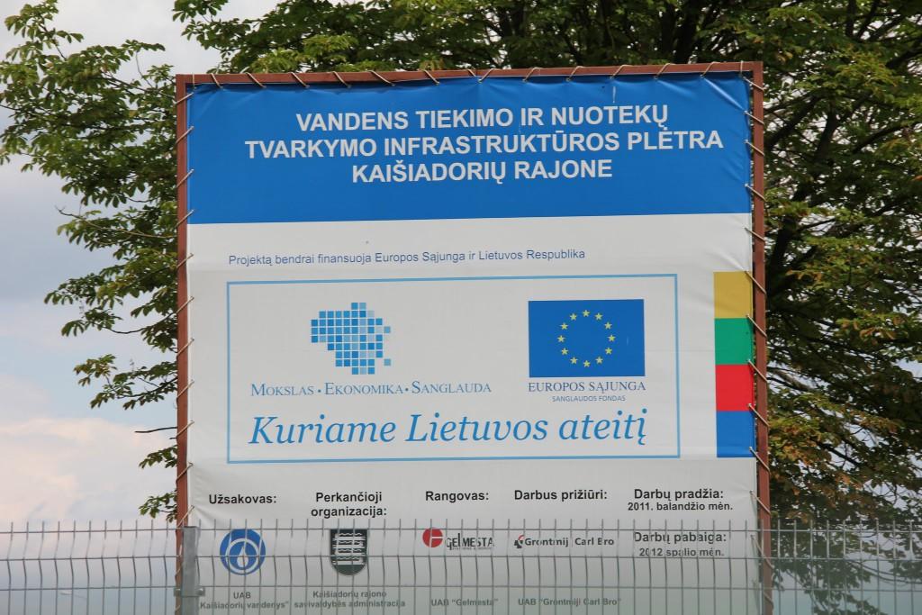 Europos Sąjungos pinigai remia šį projektą tik kažin ar spės iki spalio...