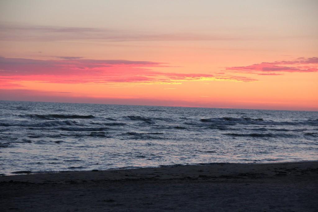 Saulėlydis į Baltijos jūrą Šventojoje