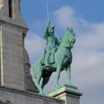 Paryžius. Raitėlio skulptūra.