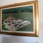 Silvio namų interjeras - paveikslas, kuriame matosi Silvio namai iš aukštai.