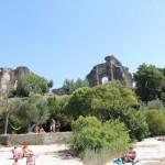 Sirmione pilies griuvėsiai.