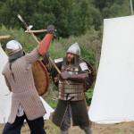 """Baltų karybos draugovės nariai """"Jotva"""" kovos fragmentas"""