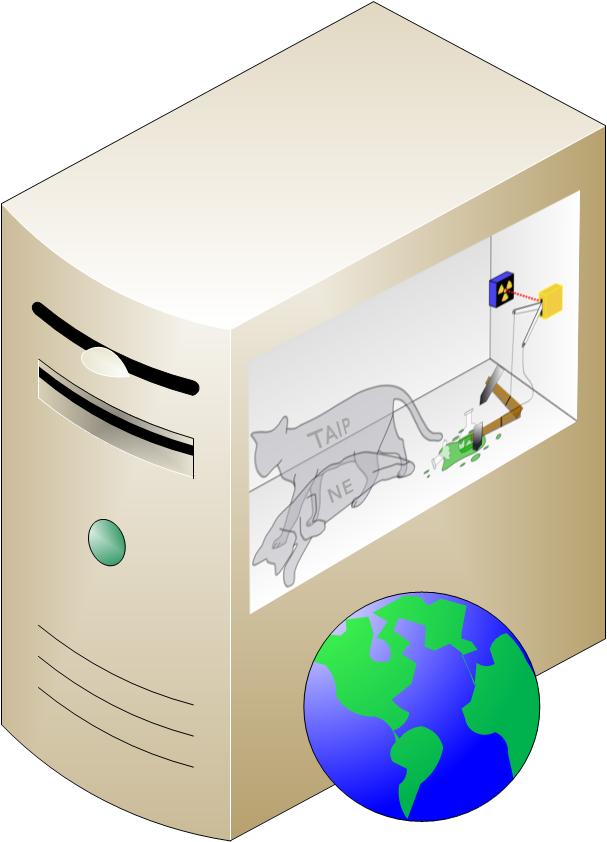 Visiems jau seniai kyla įtarimai, kad kompiuterius ir internetą sukūrė katės, todėl šis paveikslas tą tik patvirtina.