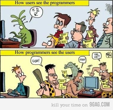 Kaip vartotojai mato programuotojus ir atvirkščiai