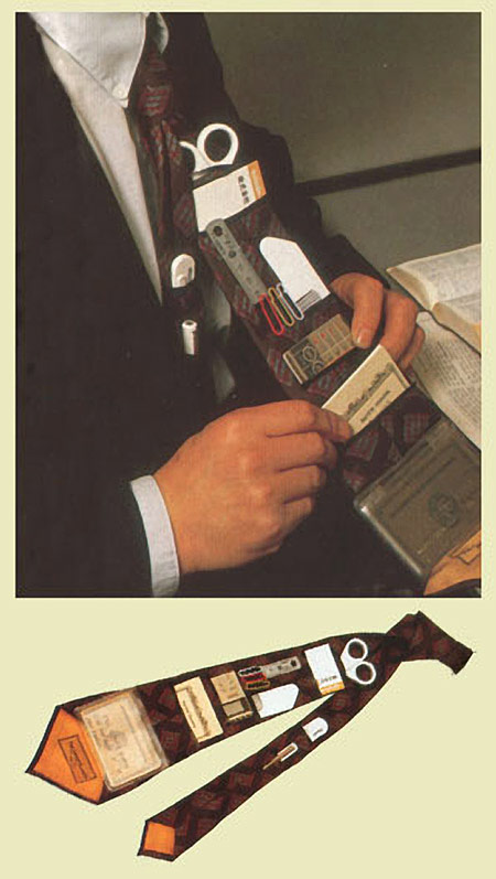 Šlipsas su kišenėm