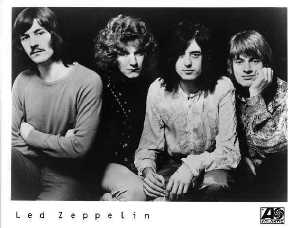 Led Zeppelin: John Bonham, Robert Plant, Jimi Page ir John Paul Jones. Kai numirė būgnininkas John Bonham - viena geriausių pasaulio grupių iširo.