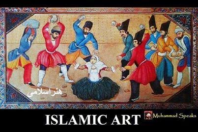 Kai kuris islamiškas menas turi labai aukštą moralinių vertybių skalę.