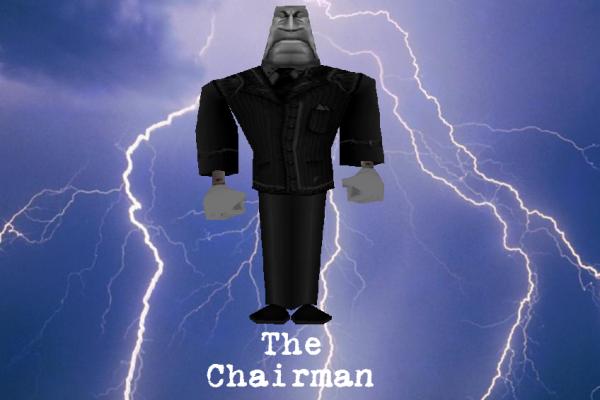 Chairman, tai pirmininkas angliškai. Paemiau iš toontownfanon.wikia.com