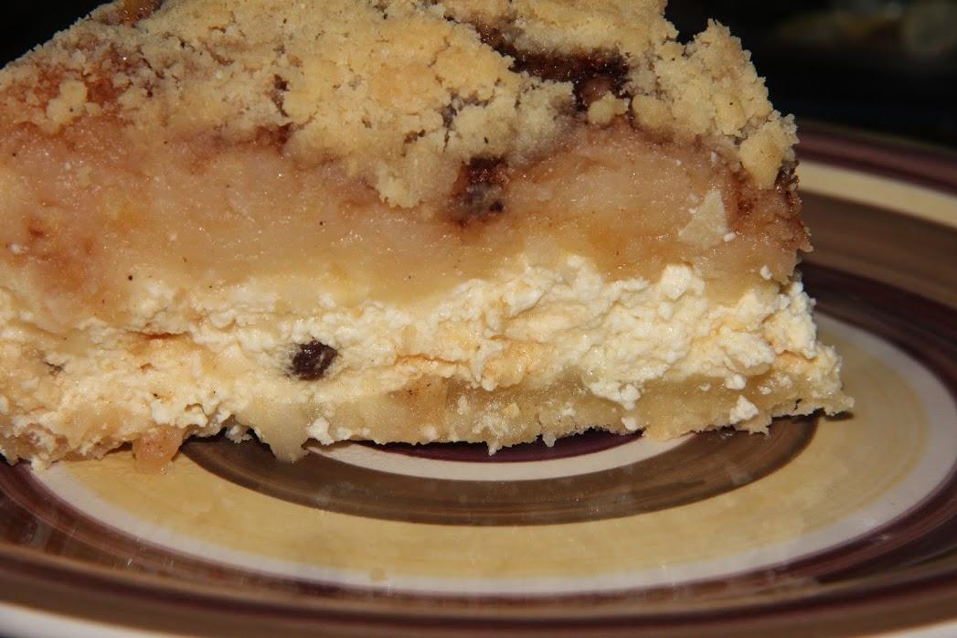 Obuolių pyragas su varške